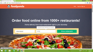 Delivery area input problem at Foodpanda's website