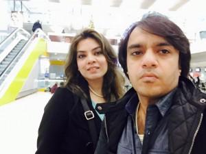 Wajiha and her husband Kashan